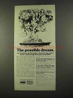 1975 Holland America Cruises Ad - The Possible Dream