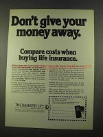 1975 The Bankers Life Insurance Ad - Don't Give Away