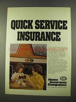 1975 Home Insurance Ad - A&W Restaurants
