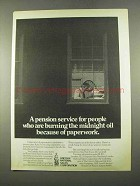 1975 Lincoln National Life Insurance Ad - Pension