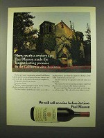 1975 Paul Masson California Zinfandel Wine Ad
