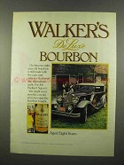 1975 Walker's DeLuxe Bourbon Ad - 1931 Packard Super 8