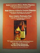 1975 Gallo Hearty Burgundy Wine Ad