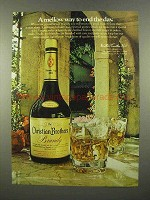 1975 Christian Brothers Brandy Ad - Mellow Way End Day