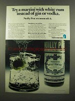 1975 Noilly Prat Vermouth Ad - Try Martini With Rum