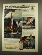 1975 Canadian Club Whisky Ad - Wind Surfing at Moorea
