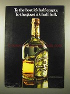 1975 Chivas Regal Scotch Ad - The Host It's Half Empty