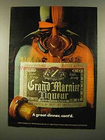 1975 Grand Marnier Liqueur Ad - A Great Dinner, Cont'd