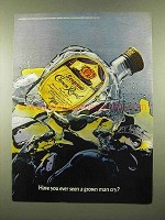 1975 Seagram's Crown Royal Whisky Ad - Grown Man Cry