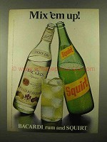 1975 Bacardi Rum and Squirt Soda Ad - Mix 'em Up!