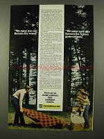 1975 Caterpillar Tractor Co. Ad - Use Forests for Wood