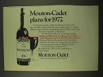 1975 Mouton-Cadet Wine Ad - Plans for 1977