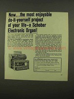 1975 Schober Electronic Organ Ad - Do-it-Yourself