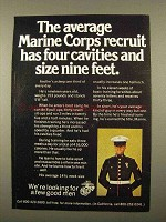 1975 U.S. Marines Ad - The Average Recruit
