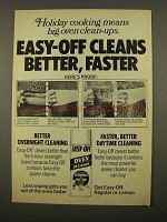 1975 Easy-Off Oven Cleaner Ad - Holiday Cooking