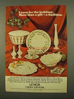 1975 Lenox China Ad - Lido Bowl, Salt & Pepper Mill Set