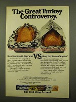 1975 Reynolds Wrap Ad - Great Turkey Controversy