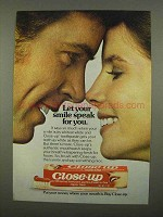 1975 Close-up Toothpaste Ad - Your Smile Speak For You