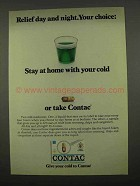1975 Contac Medicine Ad - Relief Day and Night