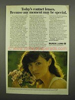 1975 Bausch & Lomb Soflens Contacts Ad - Any Moment