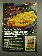1975 Ore-Ida Golden Crinkles French Fries Ad