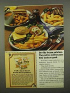 1975 Ore-Ida Frozen Potatoes Ad - Taste so Good