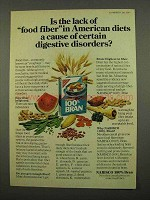 1975 Nabisco 100% Bran Cereal Ad - Lack of Food Fiber