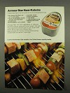 1975 Armour Star Ham Ad - Ham-Kabobs