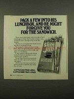 1975 Slim Jim Beef Snacks Ad - Forgive for Sandwich