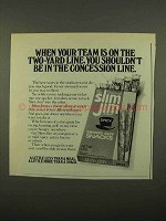1975 Slim Jim Beef Snacks Ad - Team on Two-Yard Line