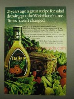 1975 Wish-Bone Italian Dressing Ad - Great Recipe