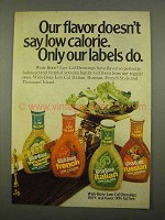 1975 Wish-Bone Dressing Ad - Low Calorie