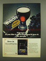 1975 Welch's Grape Juice Ad - Vitamin C