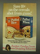1975 Quaker Puffed Rice and Puffed Wheat Cereal Ad