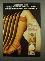 1975 L'eggs Knee Highs Pantyhose Ad - Comfort