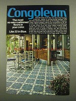 1975 Congoleum Prestige Collection Vinyl Floor Ad