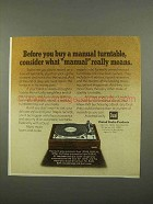 1975 Dual 1229Q Turntable Ad - What Manual Means