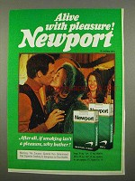 1975 Newport Cigarettes Ad - Pleasure