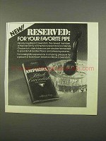 1975 Amphora Black Cavendish Tobacco Ad - Reserved