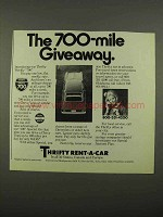 1975 Thrifty Rent-a-Car Ad - The 700-Mile Giveaway