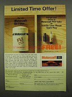 1975 Motorcraft FL-1 Oil Filter Ad - Limited Time Offer