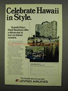 1975 United Airlines Ad - Celebrate Hawaii in Style