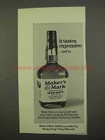 1975 Maker's Mark Whisky Ad - Tastes Expensive