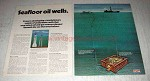 1975 2-page Exxon Oil Ad - Seafloor Oil Wells
