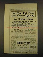 1913 Goodyear No-Rim-Cut Tires Ad - We Control Them