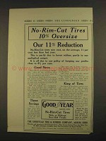 1913 Goodyear No-Rim-Cut Tires Ad - Our 11% Reduction