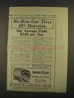1913 Goodyear No-Rim-Cut Tires Ad - Our Average Profit