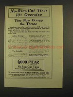 1913 Goodyear No-Rim-Cut Tires Ad - Occupy The Throne