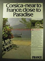 1977 France Tourism Ad - Corsica Close to Paradise