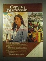 1977 Spain Tourism Ad - Come to Pilar's Spain